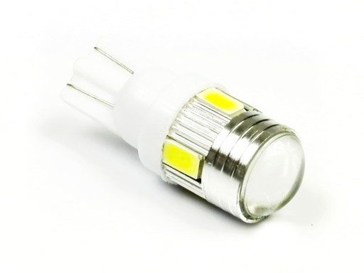 LED SOCZEWKOWA W5W 6 SMD 5630 żarówka T10 dioda FV