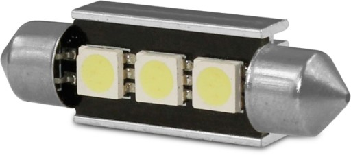 DIODY RURKI 3 X SMD C5W 8.5 C10W LED CAN BUS 42mm