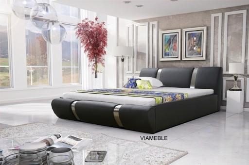 Piękne łóżko Małżeńskie Ze Stelażem Pojemnikiem