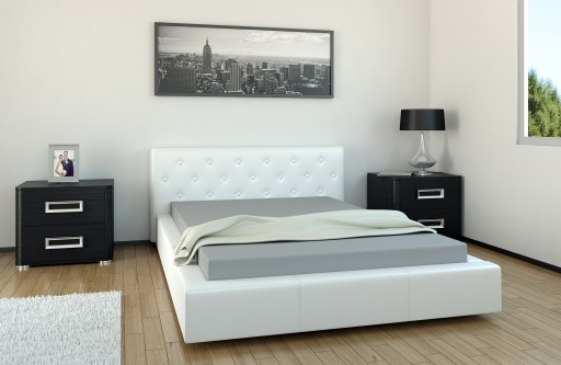 łóżko Tapicerowane Roxana 140x200 Ekoskóra 6676053668 Allegropl