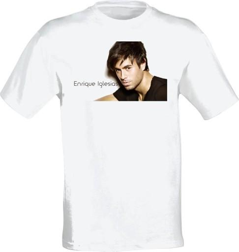 T- shirt koszulka Enrique Iglesias 10 WZORÓW M