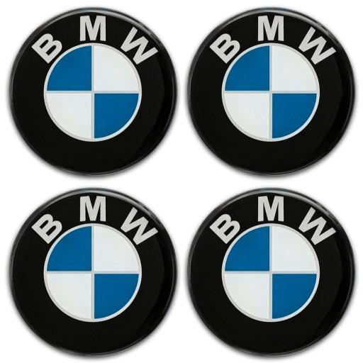 50mm BMW EMBLEMATY NAKLEJKI NA KOŁPAKI