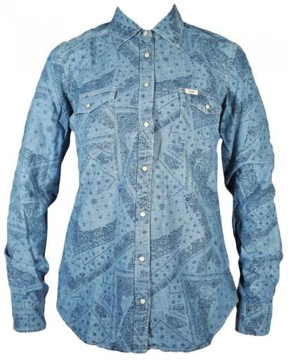 LEE koszula damska JEANS longsleeve BLUE _ S r36