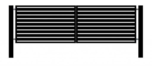 Brama skrzydłowa, Komplet, Nowoczesna, nrN1 80x20