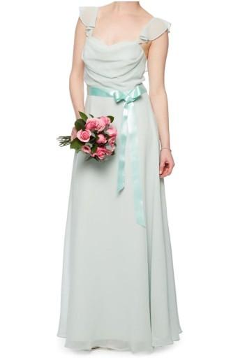 Sukienki wizytowe maxi miętowe - 36 1225