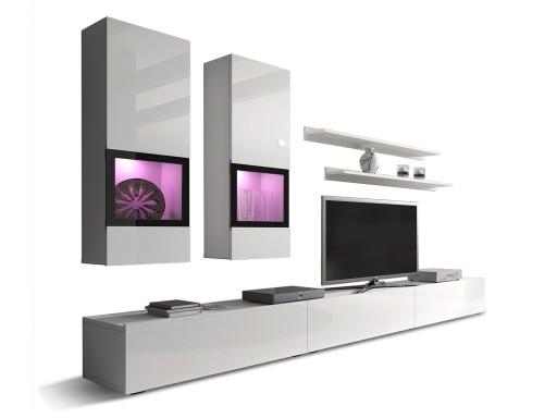 Biała Meblościanka Baros Nowoczesne Meble Salon 6563919199 Allegropl