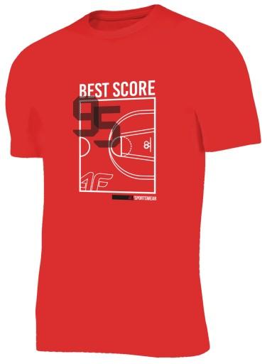 Koszulka męska T-SHIRT 4F BAWEŁNA L19 TSM018 M 8274277658 Odzież Męska T-shirty GD JUZMGD-9