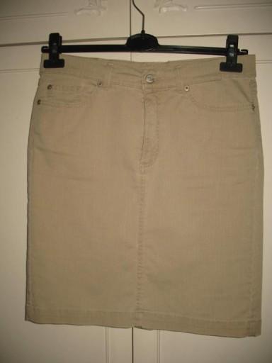 ANGELS Jeans 38  40 spódnica   beżowa krótka