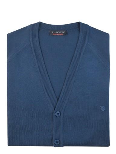Niebieski sweter/cardigan casual SW26 M 9671764025 Odzież Męska Swetry ZO VQUMZO-1
