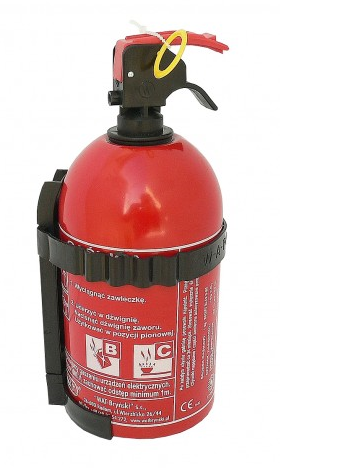 FIRE EXTINGUISHER CAR POWDER 1kg + LEGALIZATION