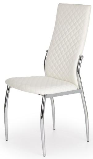 Krzesło Metalowe Krzesła K238 Białe Kuchenne Salon
