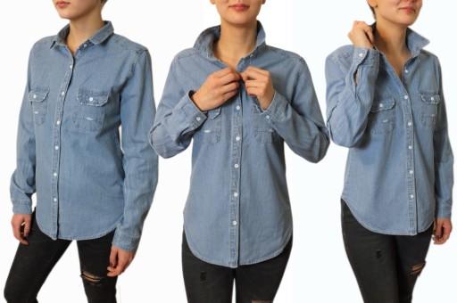 L Jeansowa koszula damska jeans oversize okazja!