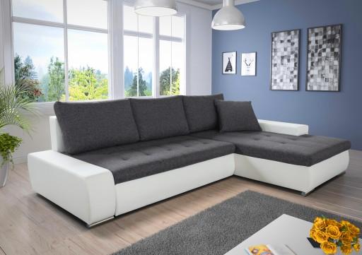 Duży Narożnik Z Funkcją Spania Aspen Rogówka łóżko 6589707621