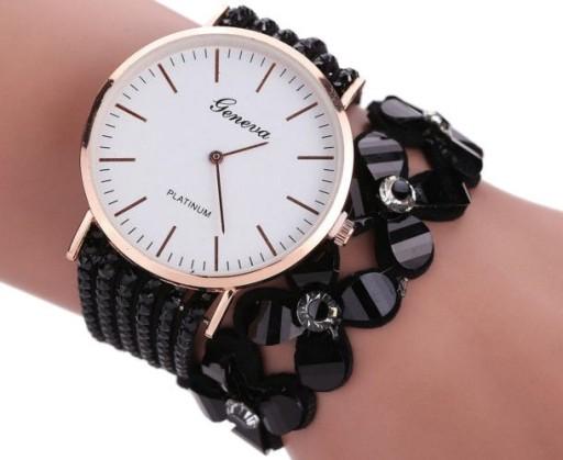 allegro czarny zegarek na ręke