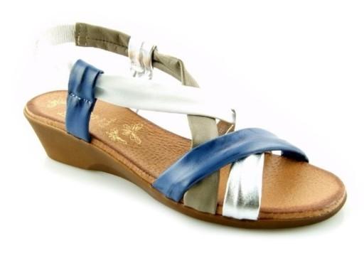 sandały damskie multikolor