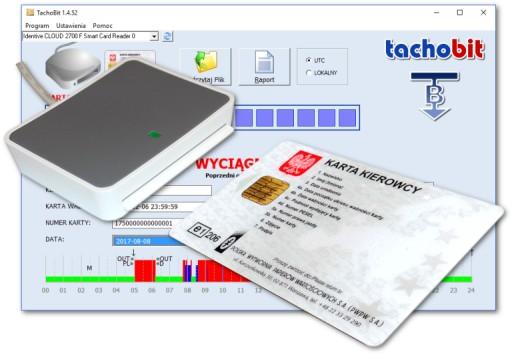 Czytnik kart kierowców + oprogram. TachoBit RAPORT 7866687722