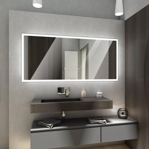 Lustro Podświetlane Led 140x80 Lustro Do łazienki