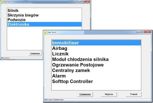 Interfejs 2w1 OPEL TECH 2 PL + VAG KKL USB + CD