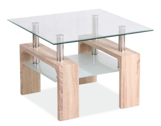 ława ławy Stoliki Szklane Lisa D Dąb Sonoma 60x60