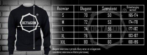 BLUZA OCTAGON FIGHT WEAR - CZERWONA B/K Rozm. S 8802347149 Bluzy Męskie Bluzy HS ANOCHS-4