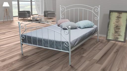 łóżko Metalowe Zofia 100x200 Kute Białe Czarne