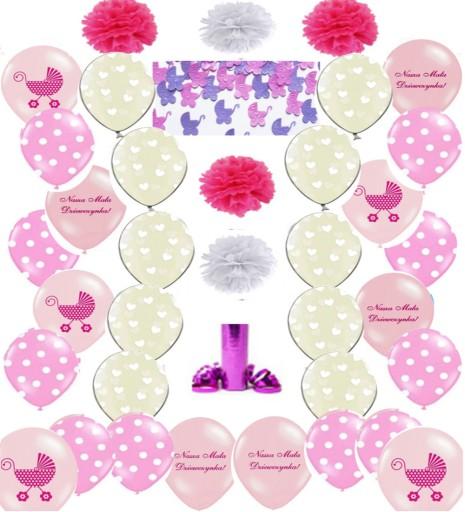 ee915c3eee6058 Balony CHRZCINY dekoracja CHRZEST dziewczynka 7429922267 - Allegro.pl