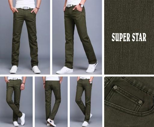 Duże Spodnie Męskie Bawełniane 668 r 116 cm oliwko 7888008133 Odzież Męska Spodnie CY PQOCCY-4