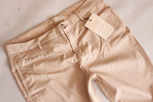 spodnie bezowe przed kostke zara