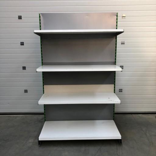 Regał sklepowy metalowy używany 150 zł netto/mb