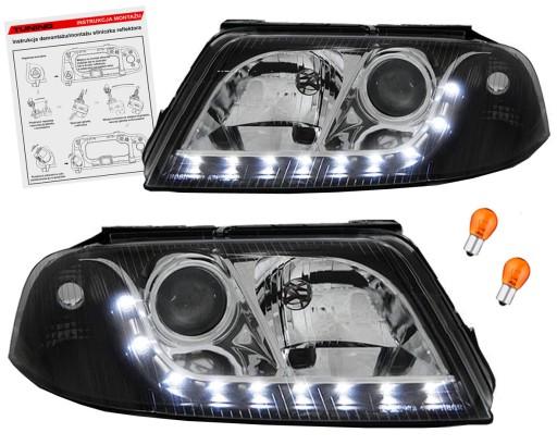 Vw Passat B5 Fl 3bg Lampy Reflektory Black Led H7 Ilawa Allegro Pl