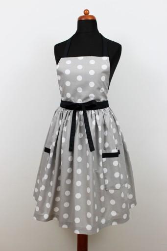 Fartuch sukienka grochy retro kieszenie