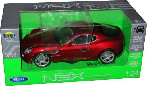 Alfa Romeo 8c Metalowy Model Welly 1 24 Czerwony 8575729722 Allegro Pl