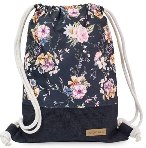 Worek Plecak Torba Kwiaty Palmy Flamingi Baggage 6794174226 Allegro Pl