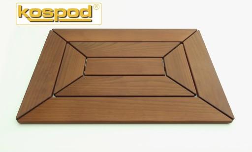 drewniana mata łazienkowa KOPERTOWA 41,5x60 KOSPOD