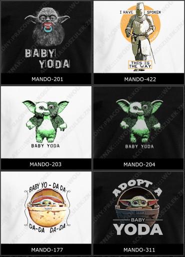 koszulka baby yoda śmieszne mando RÓŻNEopcjeWYBÓR 8846825779 Odzież Męska T-shirty FW VCMKFW-8