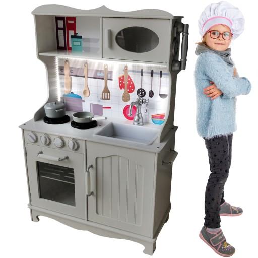 Kinderplay Drewniana Kuchnia Dla Dzieci światło