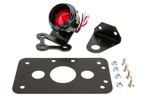 TAIL LIGHTS WITH CARCASS ROUND CUSTOM bobber BLACK