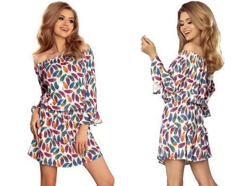 c2339aa45d2708 Letnie Mini Sukienki WYJŚCIOWE DO PRACY 198-2 L 40 7480178622 ...