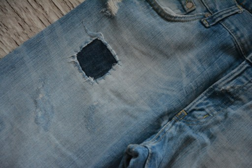 *H&M* JEANSY PRZESZYCIA ŁATY_PAS 88 10774132968 Odzież Męska Spodnie SV NARFSV-1