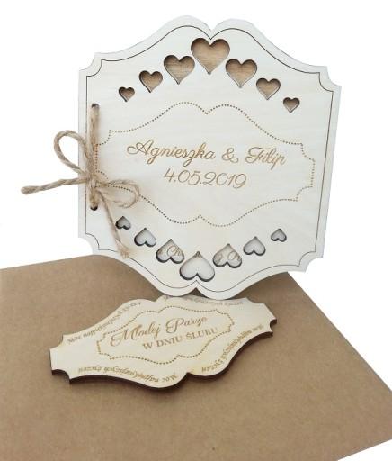 Kartka na ŚLUB Życzenia ślubne Prezent GRAWER