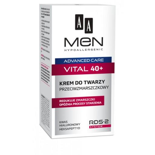 AA Men Advanced Care 40+ krem przeciwzmarszczkowy