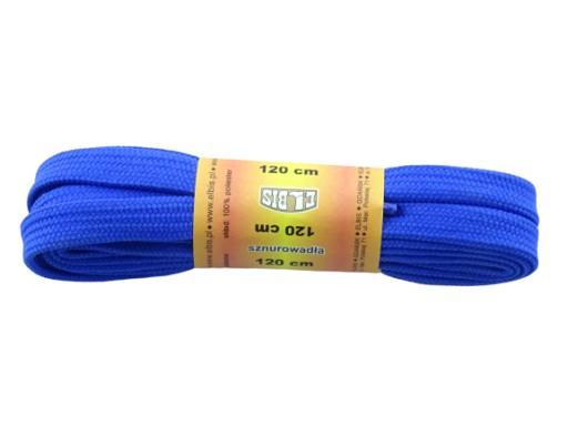 Sznurowadła sznurówki płaskie 120 cm niebieskie
