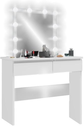 Toaletka Kosmetyczna Biała Oświetlenie Led Joanna