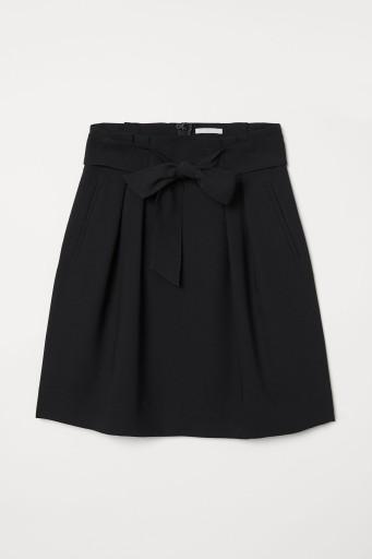 H&M Spódnica czarna wiązanie 36 S