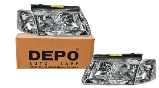 VW Passat B5 reflektory lampy H4+H7 L+P2 DEPO