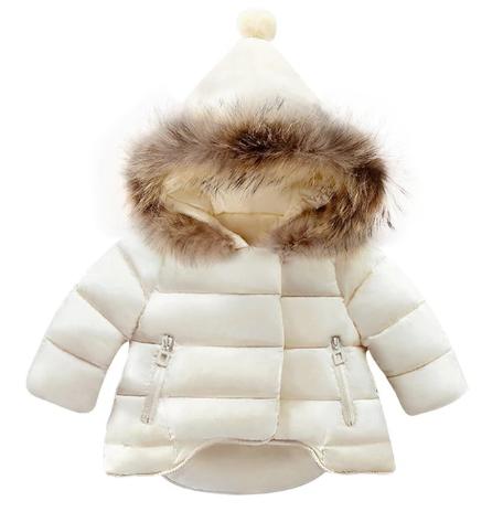 Kurtka zimowa płaszczyk futerko pompon 92