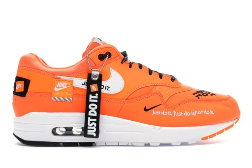 NIKE AIR MAX 1 LX JUST DO IT TOTAL ORANGE r. 38,5