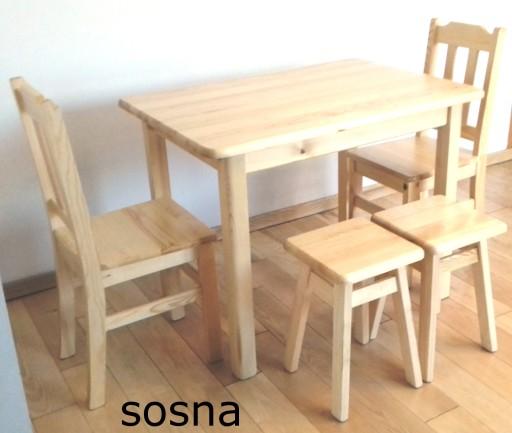 STÓŁ sosnowy drewniany 90x55  KUCHNIA JADALNIA BAR