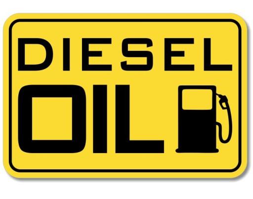 STICKER MARK FUEL fuel DIESEL OIL ropa ON