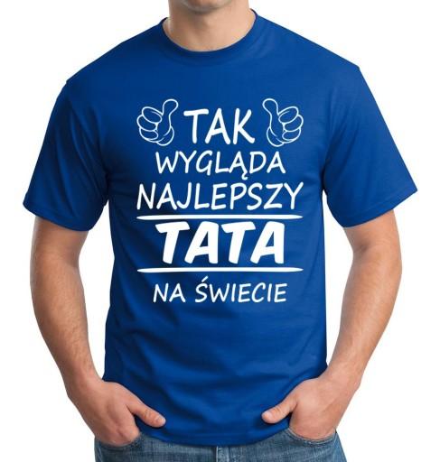Koszulka Dzien Ojca Super Tata Prezent Taty Urodz 8108752432 Allegro Pl